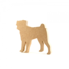 Freestanding Pug Shape (18mm)