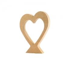 Freestanding Slanted Heart (18mm)
