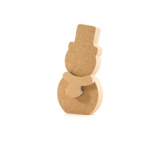 Freestanding Snowman with 3D Scarf (18mm)