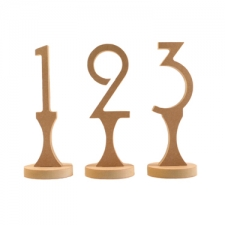 Freestanding Table Numbers, Art Deco Font (18mm)