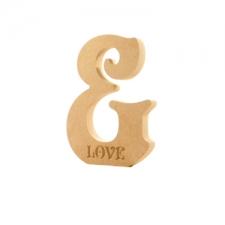 Freestanding Victorian Font &, Engraved LOVE (18mm)