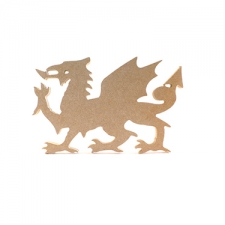 Freestanding Welsh Dragon 200mm x 300mm (18mm)