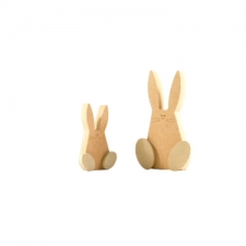 Freestanding Wonky Bunny with Engraved Face and 3D Feet (18mm)