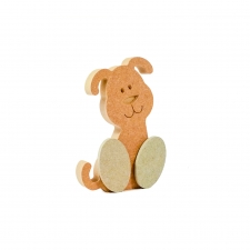 Freestanding Wonky Dog with Engraved Face and 3D Feet (18mm)