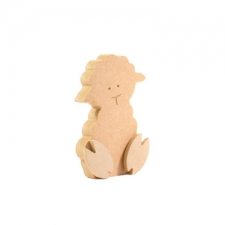Freestanding Wonky Lamb with Engraved Face and 3D Feet (18mm)