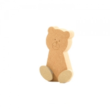Freestanding Wonky Teddy with Engraved Face and 3D Feet (18mm + 6mm)