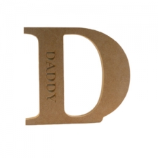 Freestanding, Georgian Bold Letter D, Daddy (18mm)