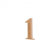 Times New Roman Bold Engraved No.1 'Birthday Boy' (18mm)