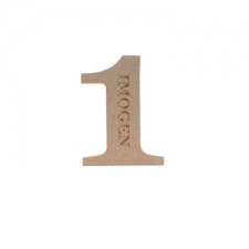 Georgian Bold Personalised Engraved Number 1 (18mm)