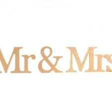 Georgian Font, Mr & Mrs, 3 Pieces (18mm)