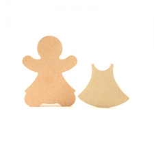 Gingerbread Lady with Dress (18mm)