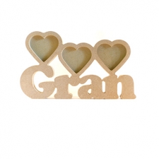 Gran Photo Frame with 3 Hearts (18mm)