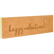 'happy valentines' engraved plaque (18mm)