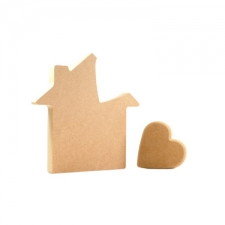 House with Heart in Roof (18mm)