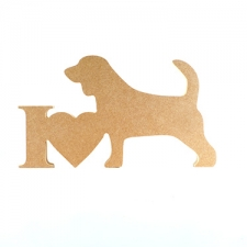 I Love Beagle Sign (18mm)