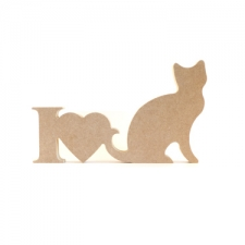 I Love Cats Sign (18mm)