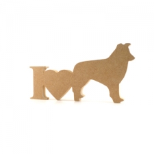 I Love Collies Sign (18mm)