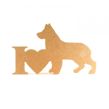 I Love German Shepherd Sign (18mm)