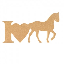 I Love Horses Sign (18mm)