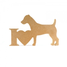I Love Jack Russell Sign (18mm)