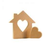 Interlocking House with Heartin the Centre (18mm)