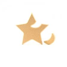 Interlocking Moon in a Star