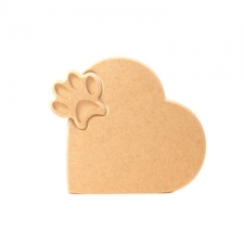 Interlocking Paw in a Heart (18mm)