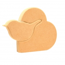 Interlocking Robin in a Heart (18mm)
