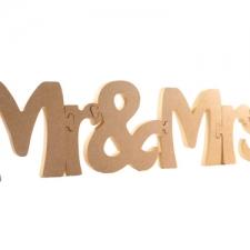 Jigsaw Font: Mr & Mrs (18mm)