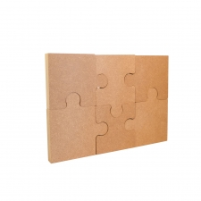 Jigsaw, Freestanding and interlocking with 6 Pieces (18mm)