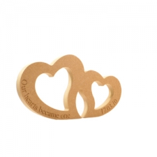 Joined Hearts, Engraved 'Our hearts became one with date' (18mm)