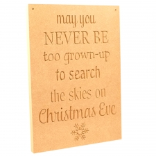 'May you never be too old...' Large Engraved Plaque (18mm)