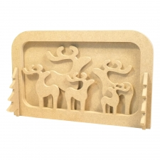 Layered Reindeer Scene, with 2 Adults... 6mm