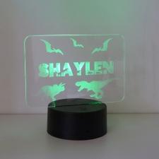 LED/Acrylic Light - Dinosaur Name