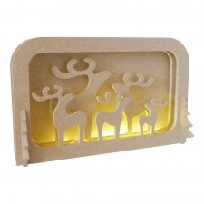 LIGHT UP Layered Reindeer Scene, with 2 Adults... 6mm