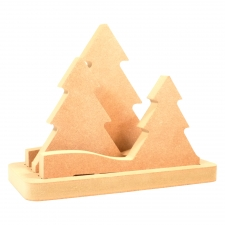LIGHT UP Set of 3 Christmas Trees (18mm)