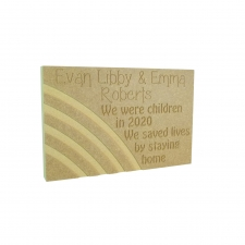 Lockdown Memory Plaque (18mm)
