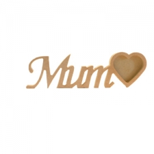 Mum Photo Frame with 1 Heart (18mm)
