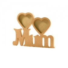 Mum Photo Frame with 2 Hearts (18mm)