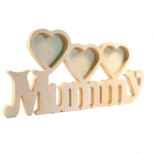 Mummy Photo Frame with 3 Hearts (18mm)