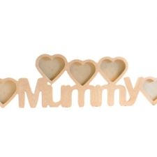 Mummy Photo Frame with 5 Hearts (18mm)