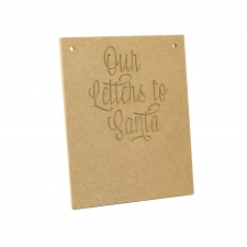 My Letter/Our Letters To Santa, Engraved Plaque (6mm)