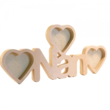 Nan Photo Frame with 3 Hearts (18mm)
