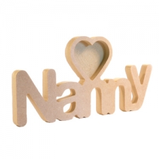 Nanny Photo Frame with 1 Heart (18mm)