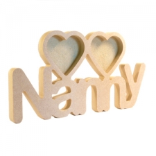 Nanny Photo Frame with 2 Hearts (18mm)