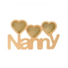 Nanny Photo Frame with 3 Hearts (18mm)