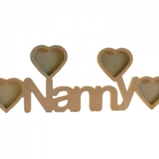 Nanny Photo Frame with 4 Hearts (18mm)
