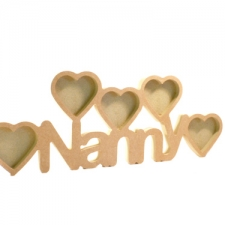 Nanny Photo Frame with 5 Hearts (18mm)