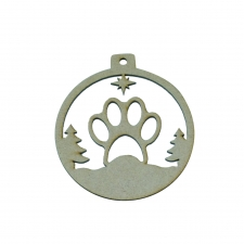 Paw Bauble (3mm)