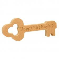 Plain/Personalised Birthday Key (18mm)